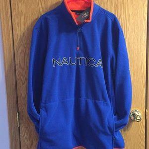 Nautica Fleece Quarter Zip Pullover NWT